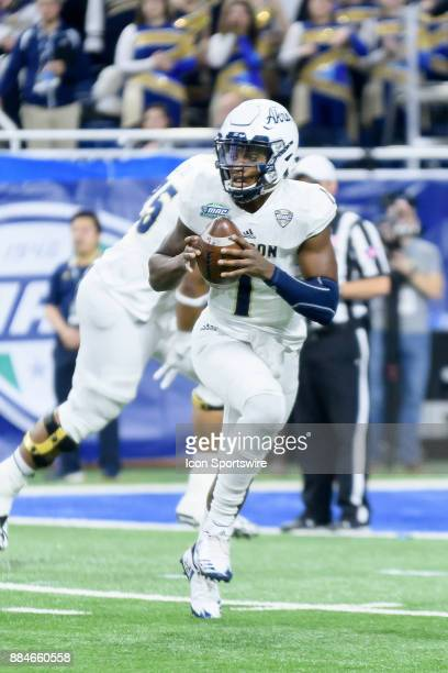 Akron Zips QB Kato Nelson in the MAC Championship game between Akron Zips and Toledo Rockets on December 2 2017 at Ford Field in Detroit MI