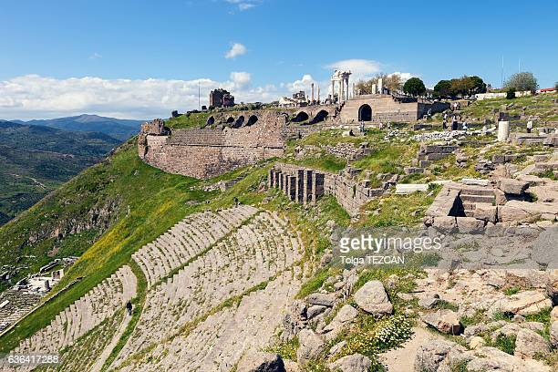 akropolis antique city - bergama stock pictures, royalty-free photos & images
