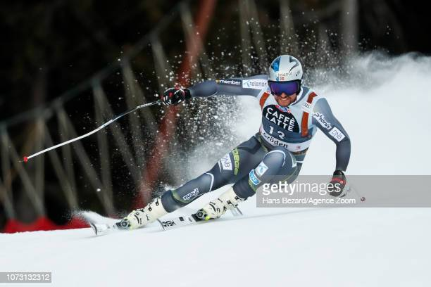 Aksel Lund Svindal of Norway competes during the Audi FIS Alpine Ski World Cup Men's Super G on December 14 2018 in Val Gardena Italy