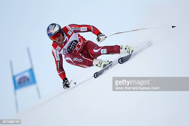 Aksel Lund Svindal of Norway competes during the Audi FIS Alpine Ski World Cup Men's SuperG on December 18 2015 in Val Gardena Italy