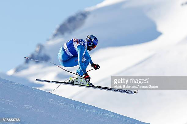 Aksel Lund Svindal of Norway competes during the Audi FIS Alpine Ski World Cup Men's Downhill on December 3 2016 in Val d'Isere France