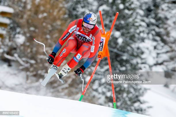 Aksel Lund Svindal of Norway competes during the Audi FIS Alpine Ski World Cup Men's Downhill on December 28, 2017 in Bormio, Italy.