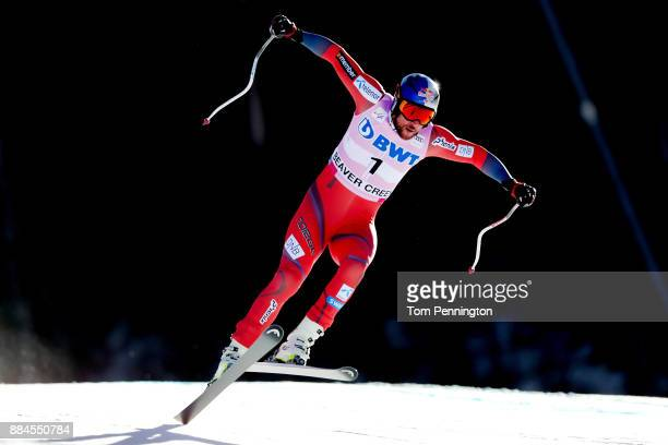 Aksel Lund Svindal of Norway competes in the Audi Birds of Prey World Cup Men's Downhill on December 2 2017 in Beaver Creek Colorado
