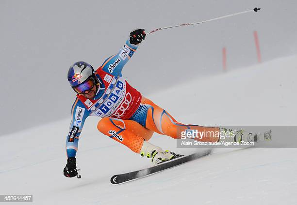 Aksel Lund Svindal of Norway during the Audi FIS Alpine Ski World Cup Men's Downhill on November 30 2013 in Lake Louise Canada