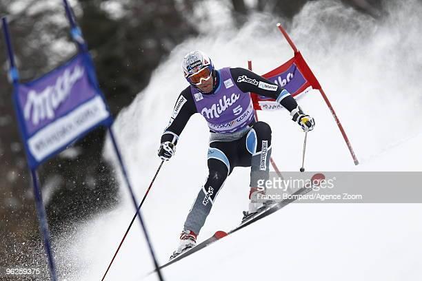 Aksel Lund Svindal of Norway during the Audi FIS Alpine Ski World Cup Men's Giant Slalom on January 29, 2010 in Kranjska Gora, Slovenia.