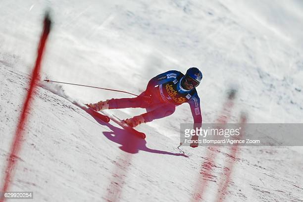 Aksel Lund Svindal of Norway in action during the Audi FIS Alpine Ski World Cup Men's Downhill Training on December 15 2016 in Val Gardena Italy