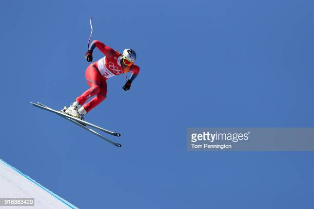 Aksel Lund Svindal of Norway makes a run during the Men's Downhill on day six of the PyeongChang 2018 Winter Olympic Games at Jeongseon Alpine...