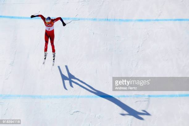 Aksel Lund Svindal of Norway makes a run during the Men's Downhill on day six of the PyeongChang 2018 Winter Olympic Games at Jeongseon Alpine Centre...