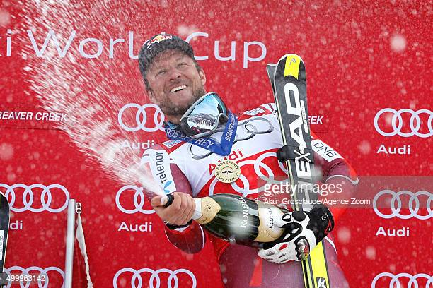 Aksel Lund Svindal of Norway takes 1st place during the Audi FIS Alpine Ski World Cup Men's Downhill on December 04 2015 in Beaver Creek Colorado