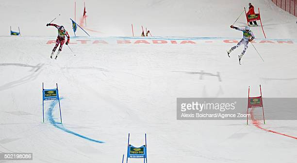 Aksel Lund Svindal of Norway takes 2nd plac Dominik Schwaiger of Germany competes during the Audi FIS Alpine Ski World Cup Men's Parallel Giant...