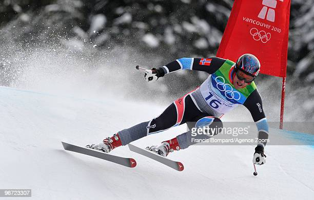 Aksel Lund Svindal of Norway takes the Silver Medal during the Men's Alpine Skiing Downhill on Day 4 of the 2010 Vancouver Winter Olympic Games on...