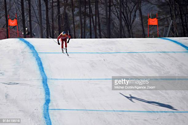 Aksel Lund Svindal of Norway wins the gold medal during the Alpine Skiing Men's Downhill at Jeongseon Alpine Centre on February 15, 2018 in...