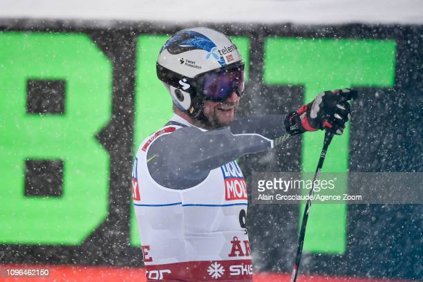 Aksel Lund Svindal of Norway wins the silver medal during the FIS World Ski Championships Men's Downhill on February 9 2019 in Are Sweden