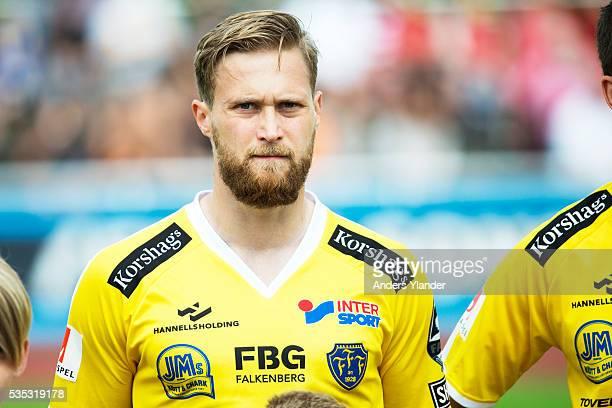 Akseli Pelvas of Falkenberg FF reacts during the Allsvenskan match between Falkenbergs FF andKalmar FF at Falkenbergs IP on May 29 2016 in Falkenberg...
