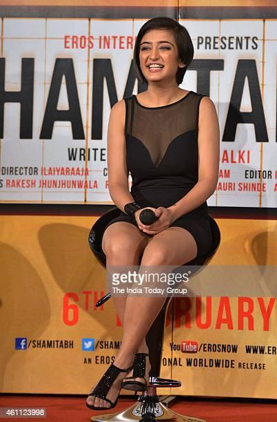 Akshara Haasan at the trailer launch of SHAMITABH
