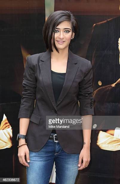 Akshara Haasan attends a photocall for Shamitabh at St James Court Hotel on January 27 2015 in London England