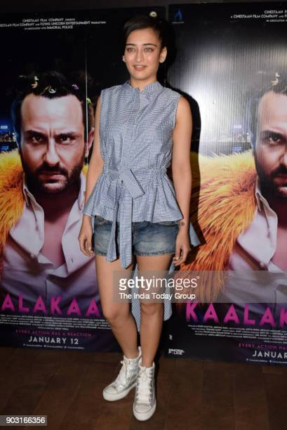 Akshara Haasan during the special screening of Kaalakaandi in Mumbai