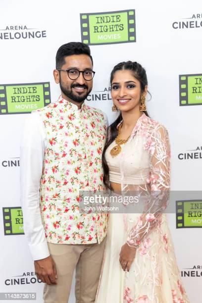 Akshay Anantapadmanabhan and Sudharma Vaithiyanathan attend the theatrical world premiere of Kaarthikeyan Kirubhakaran's musical drama 'His Father's...