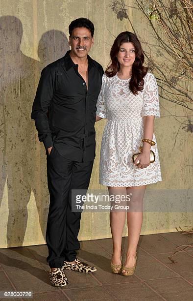 Akshay Kumar along with his wife Twinkle Khanna during the birthday celebrations of fashion designer Manish Malhotra in Mumbai