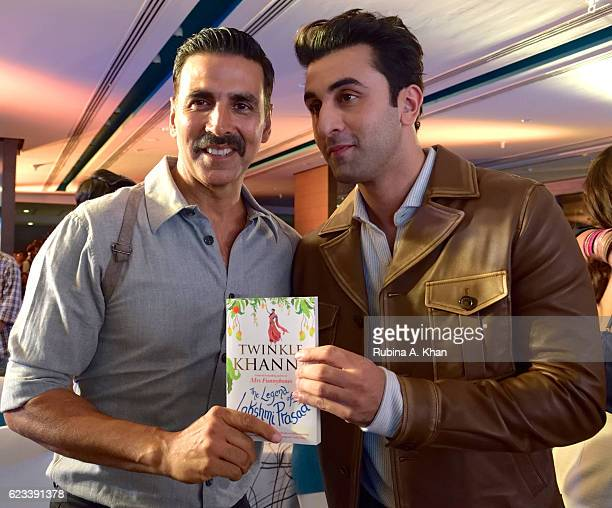 Akshay Kumar and Ranbir Kapoor at the launch of Twinkle Khanna's second book The Legend of Lakshmi Prasad published by Juggernaut Books at the JW...