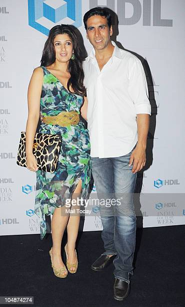 Akshay Kumar and Twinkle Khanna at the HDIL Couture Week 2010 party in Mumbai on Tuesday October 5 2010