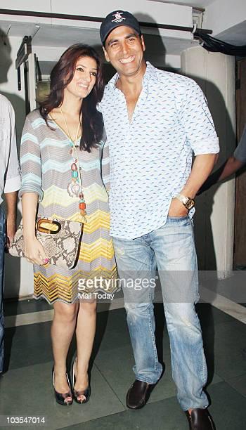 Akshay Kumar and Twinkle Khanna at the screening of the play 'Bas Itna Sa Khwaab Hai' in Mumbai on August 22 2010