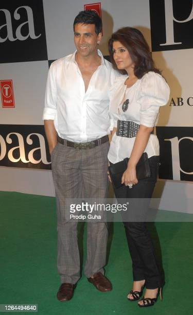 "Akshay Kumar and Twinkle Khanna attend the film premiere of ""PAA on December 03 2009 in Mumbai India"