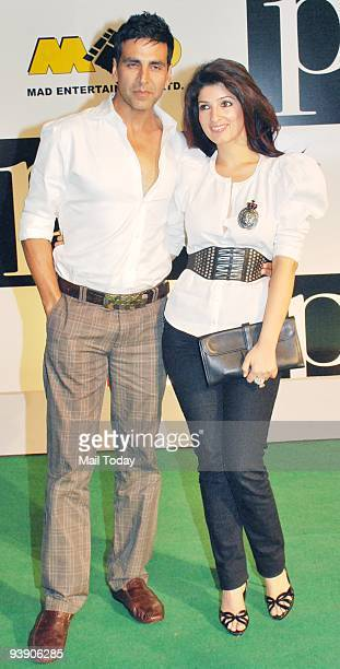 Akshay Kumar and wife Twinkle at the premiere of the film �Paa� in Mumbai on Thursday December 3 2009