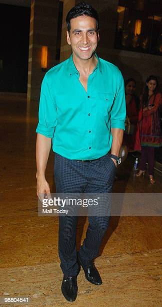Akshay Kumar at a promotional event for the film Houseful in Mumbai on April 29 2010