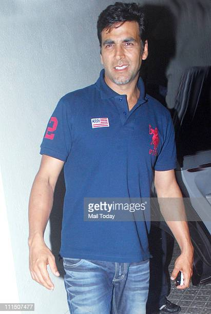 Akshay Kumar at the special screening of the movie 'Thank You' at PVR Cinemas Mumbai on April 1 2011