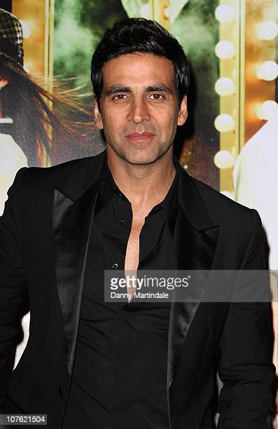 Akshay Kumar attends the Bollywood film premiere 'Tees Maar Khan' at Cineworld Feltham on December 15 2010 in London England