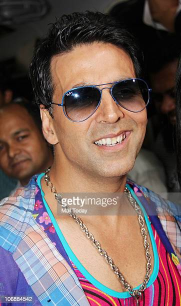 Akshay Kumar during the music launch of the film 'Tees Maar Khan' inside a train in Mumbai on November 14 2010