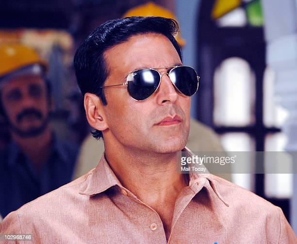 Akshay Kumar on the sets of the show Sasural Genda Phool during a promotional event for the film Khatta Meetha in Mumbai on July 18 2010