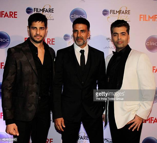 Akshay KumarKaran Johar and Siddharth Malhotra at Ciroc Filmfare Glamour and style awards in Mumbai