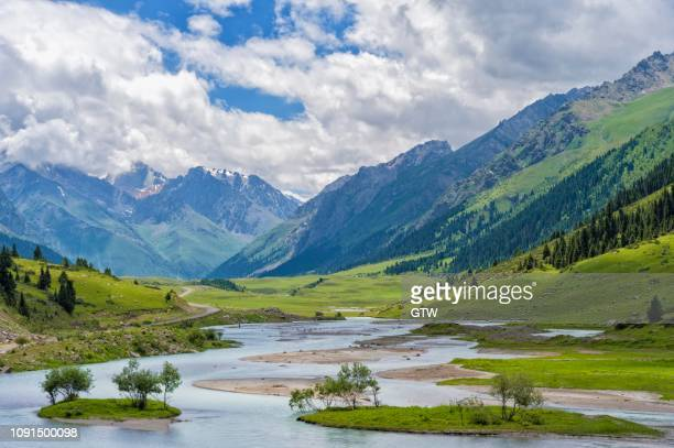 aksu or saryjaz river, issyk kul region, kyrgyzstan - {{asset.href}} stock pictures, royalty-free photos & images