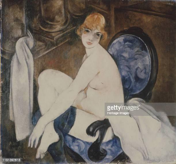 Akt in a blue Armchair Private Collection Artist Shevchenko Alexander Vasilyevich