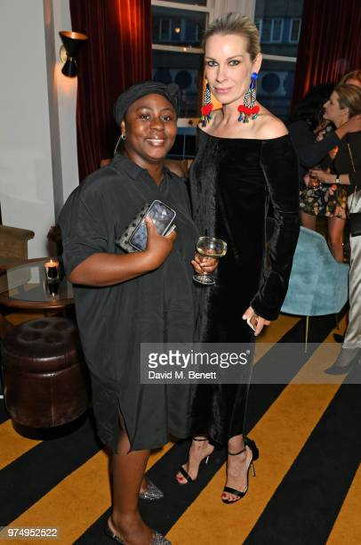 Akua Enninful and Pippa Vosper attend a private dinner hosted by Edward Enninful in honour of Giambattista Valli to celebrate the opening of his...