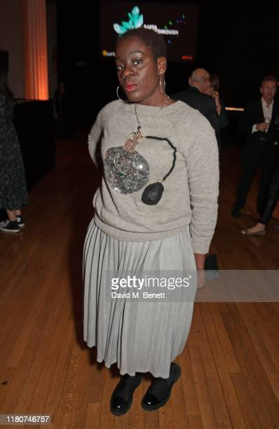 Akua Gyamfi attends the BAFTA Breakthrough Brits celebration event in partnership with Netflix at Banqueting House on November 7 2019 in London...