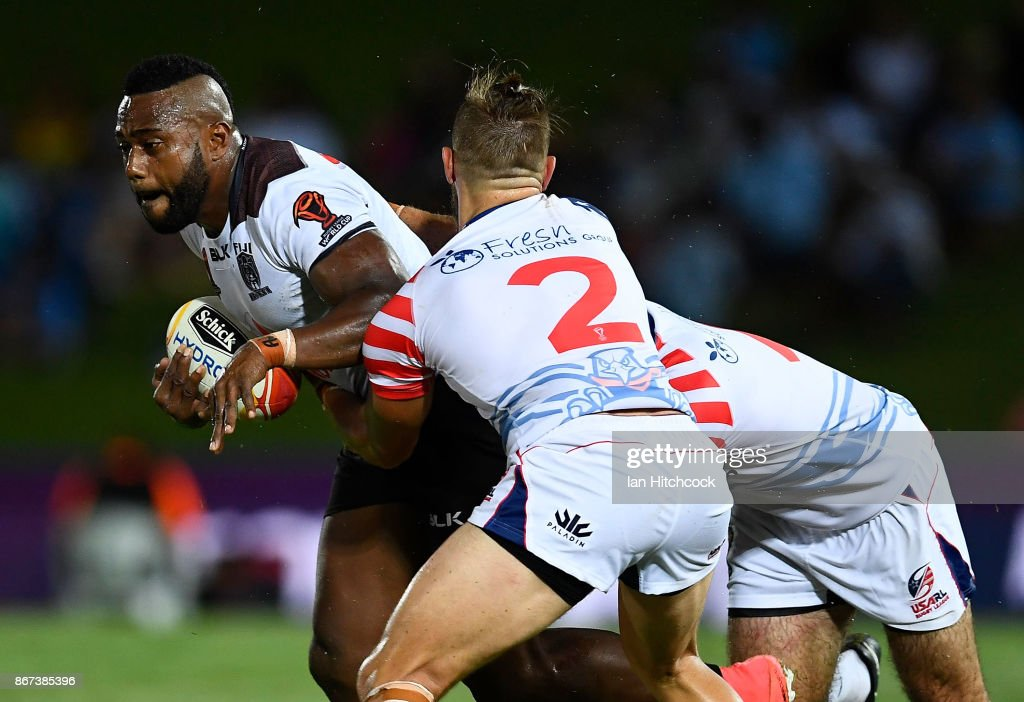Fiji v United States - 2017 Rugby League World Cup : News Photo