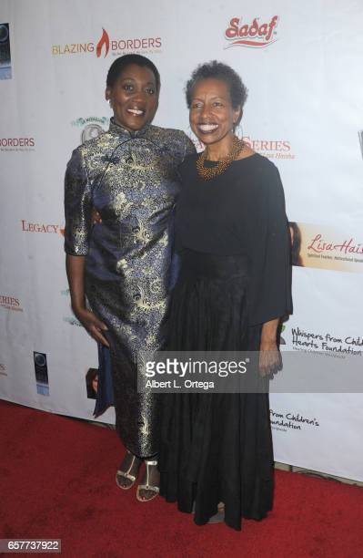 Akuyone Graham and Rickie Byars Beckwith arrive for the Whispers From Children's Hearts Foundation's 3rd Legacy Charity Gala held at Casa Del Mar on...