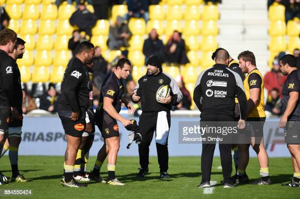 Akvsenti Giorgadze Coach of La Rochelle during the Top 14 match between La Rochelle and Montpellier on December 2 2017 in La Rochelle France