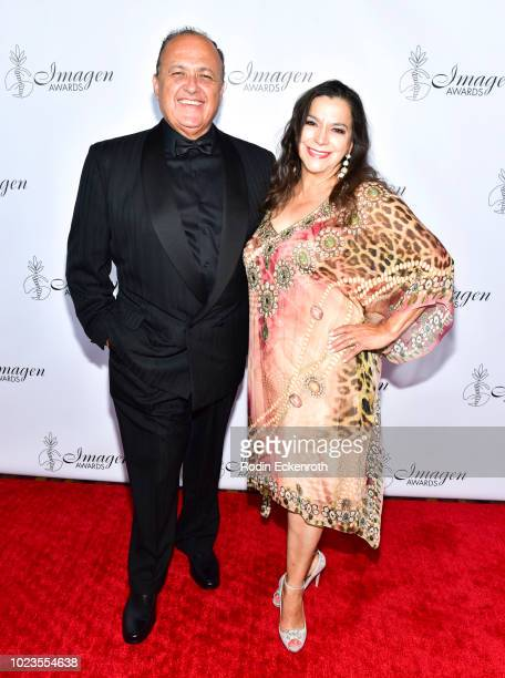 Al Aguilar and Gisela Girard attend the 33rd Annual Imagen Awards at JW Marriott Los Angeles at LA LIVE on August 25 2018 in Los Angeles California