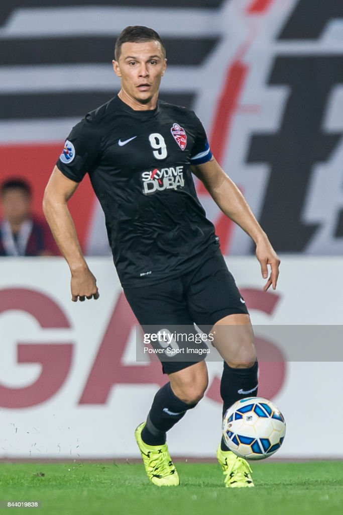 Al Ahli forward Rodrigo Jose Lima Dos Santos in action during the AFC Champions League Final Match 2nd Leg match between Guangzhou Evergrande vs Al Ahli on 21 November 2015 at the Tianhe Sport Center in Guangzhou, China.