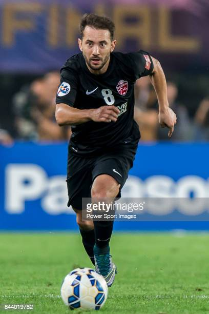 Al Ahli midfielder Everton Augusto De Barros Ribeiro in action during the AFC Champions League Final Match 2nd Leg match between Guangzhou Evergrande...