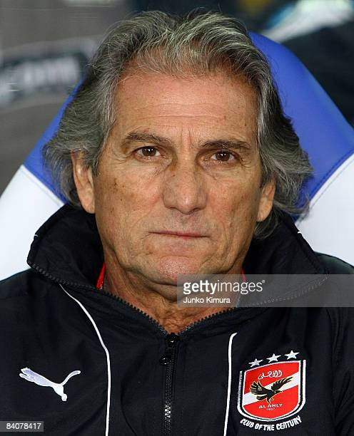 Al Ahly coach Manuel Jose waits for start of the FIFA Club World Cup fifth place match between Adelaide United and Al Ahly at the International...