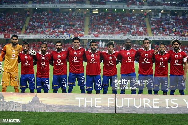 Al Ahly team line up prior to the international friendly match between AS Roma and Al Ahly on May 20 2016 in Al Ain United Arab Emirates