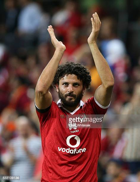Al Ahly's captain Hossam Essayed Elmetwaly during the international friendly match between AS Roma and Al Ahly on May 20 2016 in Al Ain United Arab...