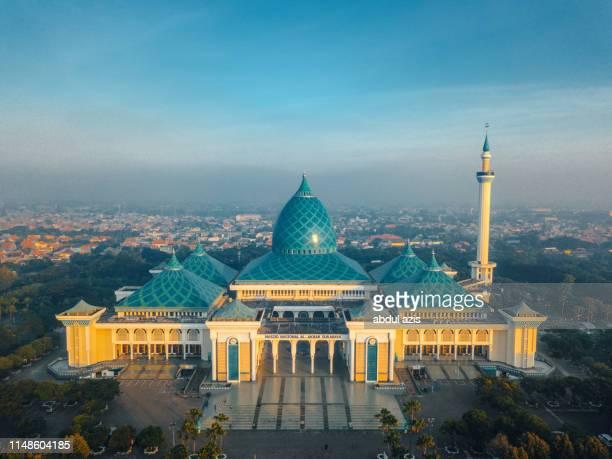 al akbar mosque  - surabaya - east java - surabaya stock pictures, royalty-free photos & images
