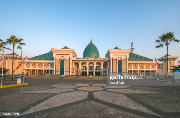 al akbar  national mosque - surabaya - surabaya stock pictures, royalty-free photos & images