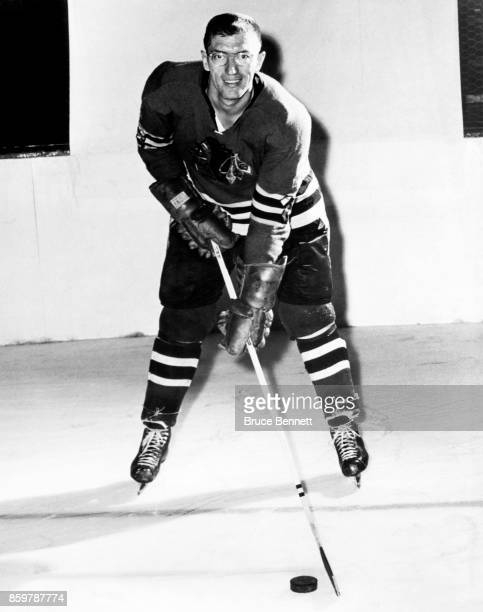 Al Arbour of the Chicago Blackhawks poses for a portrait circa 1960 in Chicago Illinois